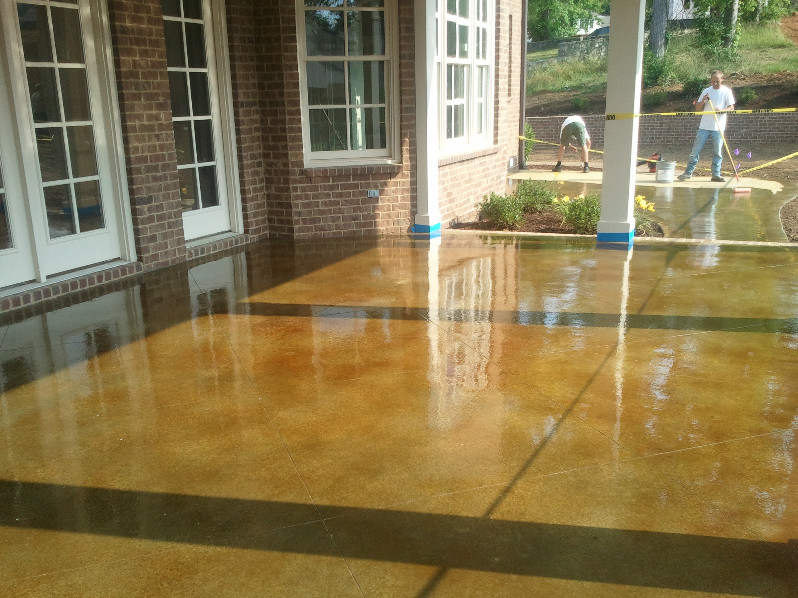 Concrete staining cost